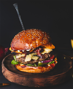 Foto Iveau's angry angus burger